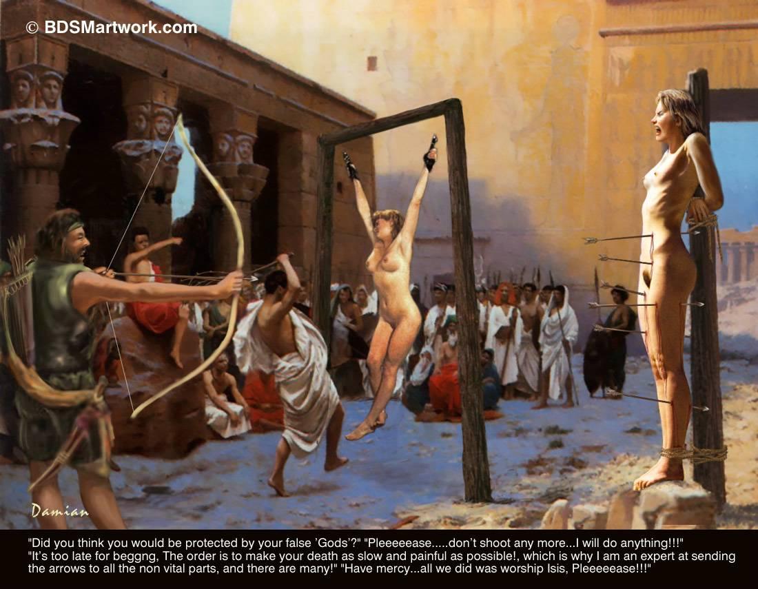 Казнь Обнаженных Рабынь